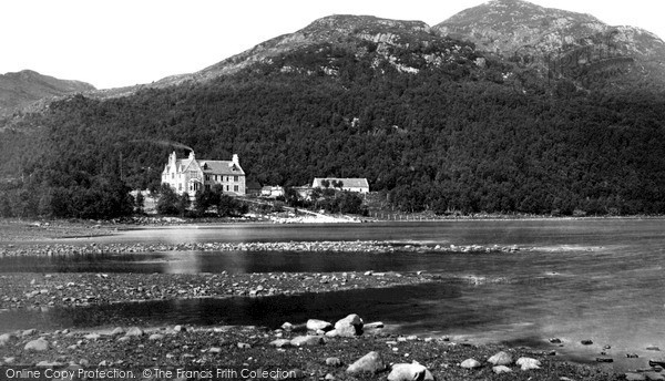 Photo of Loch Maree, Hotel From The Loch c.1900