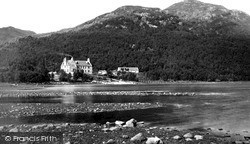 Hotel From The Loch c.1900, Loch Maree