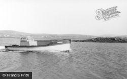 Lochmaddy, Mailboat Leaving Berneray c.1960