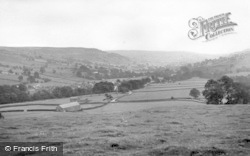 Lofthouse, Looking Down Nidderdale From Middlesmoor 1950