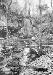 Lofthouse, The Footbridge, How Stean Gorge c.1932