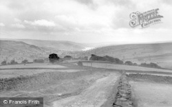 Lofthouse, Upper Nidderdale With Gouthwaite Reservoir 1957