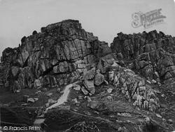 Logan Rocks, Castle Treryn Rocks c.1864