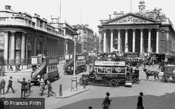 Bank Of England And The Royal Exchange c.1910, London