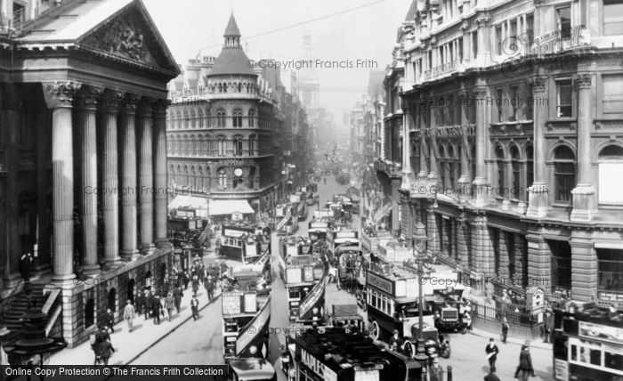 London Cheapside And Mansion House 1915 Francis Frith