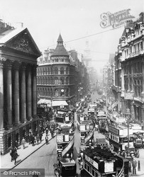 Cheapside And Mansion House 1915, London