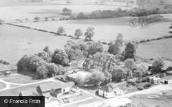 London Colney, Salisbury Hall, Aerial View c.1955