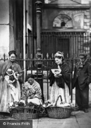 Covent Garden Flower Sellers 1877, London