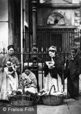 London, Covent Garden Flower Sellers 1877