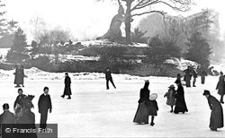 Crystal Palace Park, Ice-Skating c.1890, London