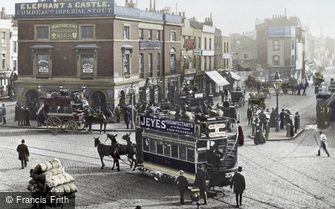 London, Elephant and Castle 1885