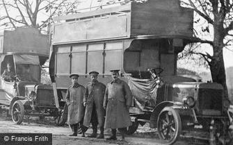 London, Grove Park Road, Army Service Corps Bus 1914