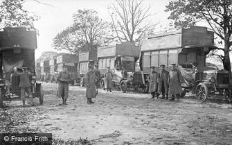 London, Grove Park Road, Army Service Corps Buses 1914