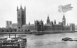 London, Houses Of Parliament 1908