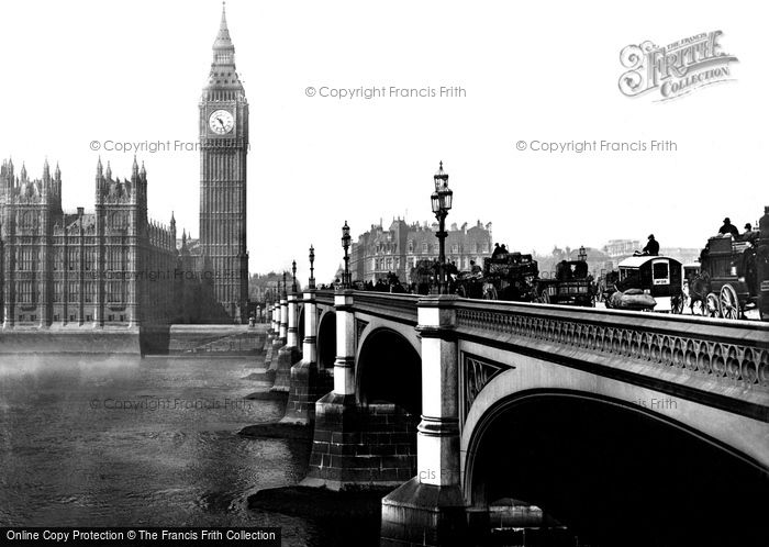 Photo of London, Houses of Parliament 1890, ref. L130162