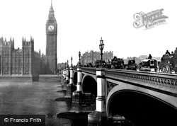 London, Houses Of Parliament And Westminster Bridge 1890