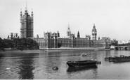 London, Houses Of Parliament c.1965