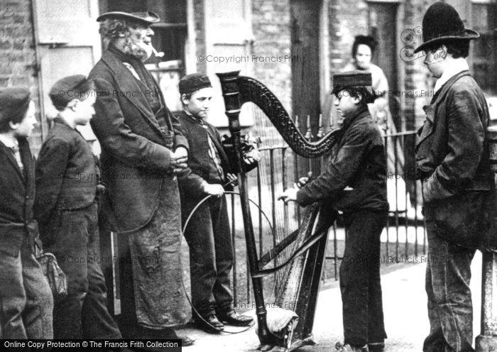 Photo of London, Italian Street Musicians 1877, ref. L130107