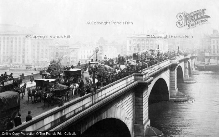 Photo of London, London Bridge 1890, ref. L130034
