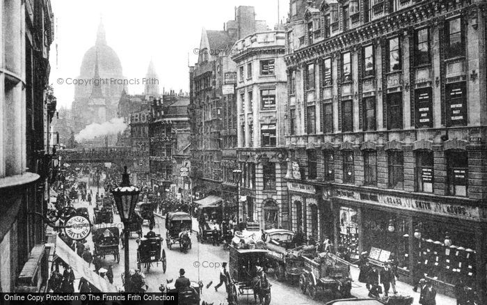 London, Ludgate Hill From Fleet Street c.1886