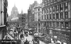 Ludgate Hill From Fleet Street c.1886, London