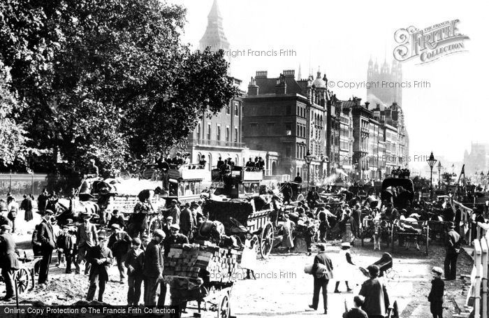 Photo of London, Parliament And Whitehall 1880