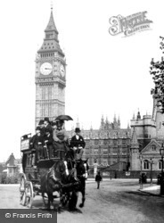 Parliament Square And 'big Ben' 1890, London