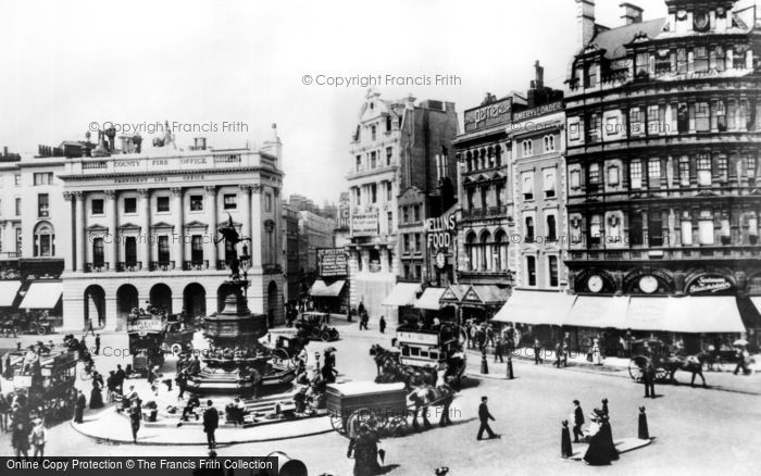 Photo of London, Piccadilly Circus c1893, ref. L130002