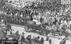 Queen Victoria At Her Diamond Jubilee Celebrations 1897, London