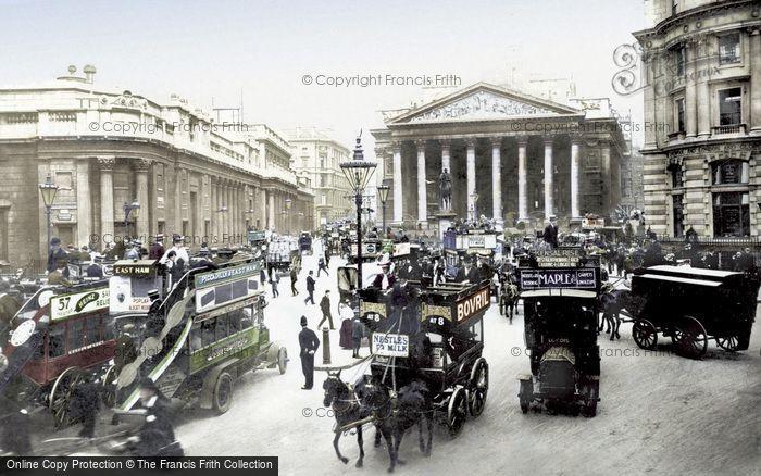 London, Royal Exchange And Bank Of England c.1910