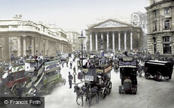 Royal Exchange And Bank Of England c.1910, London