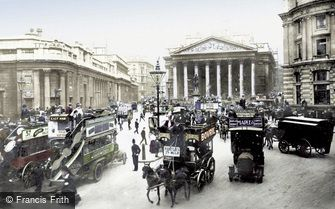 London, Royal Exchange and Bank of England c1910