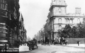 London, St James Street, Pall Mall c1880