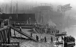 Thames Shipbuilding Yard c.1910, London