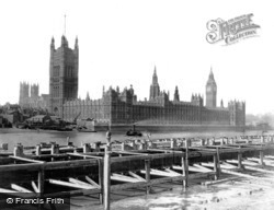 London, The Houses Of Parliament c.1866