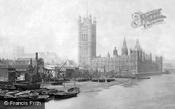 London, The Houses Of Parliament c.1890