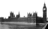 London, The Houses Of Parliament c.1900