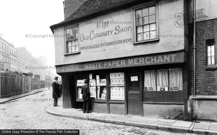 Photo of London, the Old Curiosity Shop c1875, ref. L130121