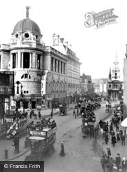London, The Strand Showing Gaiety Corner 1908