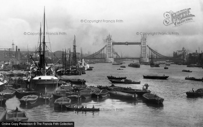 London, Tower Bridge And Pool Of London 1896
