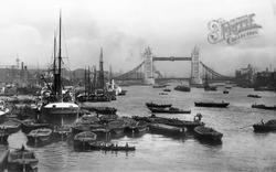 Tower Bridge And Pool Of London 1896, London
