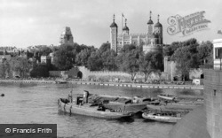 London, Tower Of London From Tower Bridge c.1950