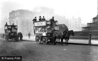 London, Trafalgar Square c1890