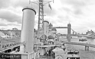 London, view of Tower Bridge from HMS Belfast 2012