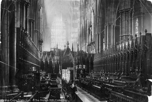 London, Westminster Abbey, Choir West c.1890