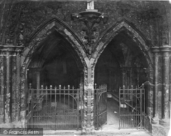 London, Westminster Abbey, Entrance To Cloisters c.1862