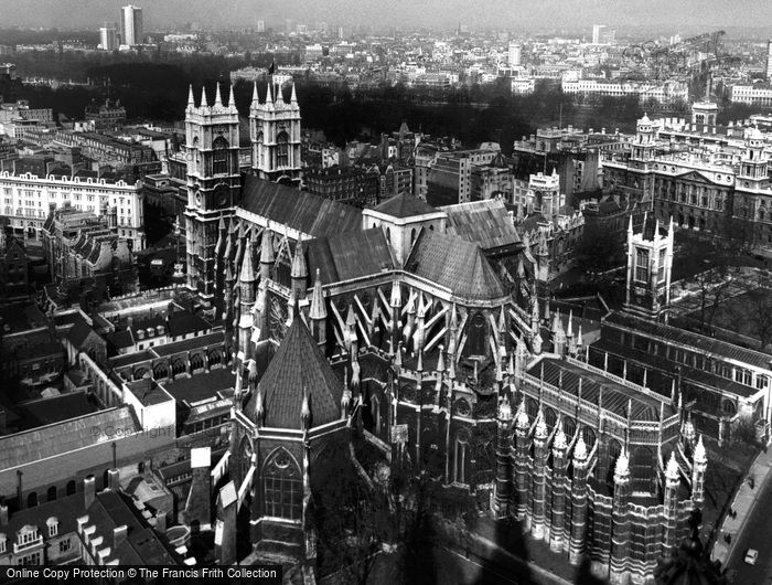 London, Westminster Abbey From Victoria Tower c.1955