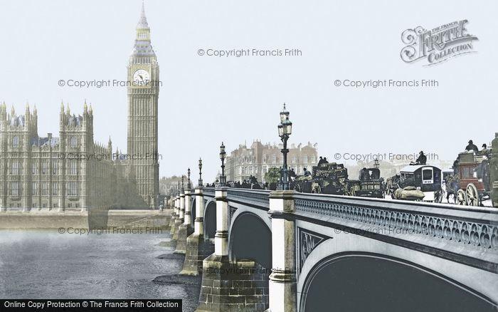 Photo of London, Westminster Bridge c.1900