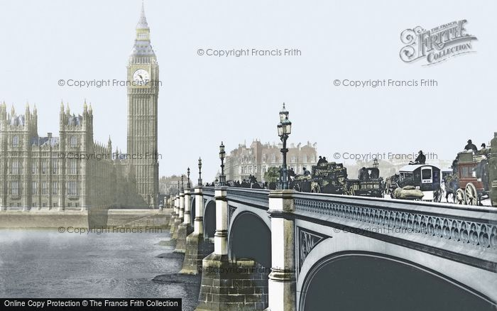London, Westminster Bridge c.1900