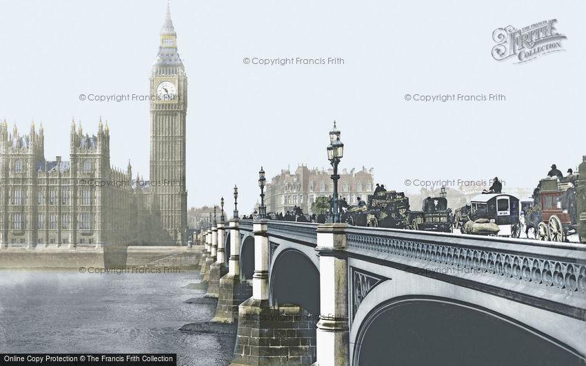 London, Westminster Bridge c1900